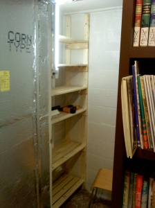 Root Cellar with Shelves